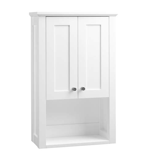 white shaker wall cabinets ronbow 688118 3 w01 shaker bathroom wall cabinet in white