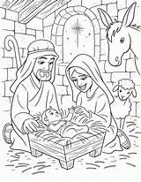 Coloring Birth Jesus Christ Popular sketch template