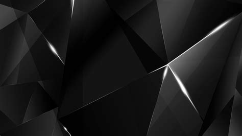 Abstract Black Bg wallpapers white abstract polygons black bg by