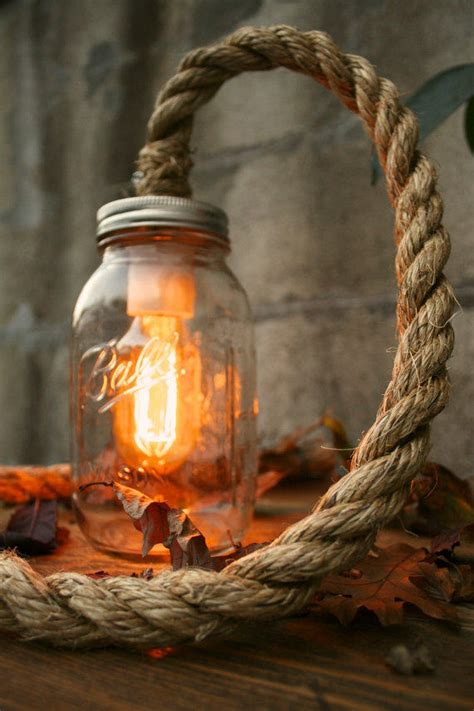 mason jar lighting rustic wedding decor  lukelampco
