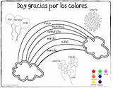 Spanish Coloring Colors Pages Thanksgiving Vocabulary Printables Worksheets Preschool Colores Elementary Los Learning Worksheet Spanishplayground Rainbow Children Activities Playground Words sketch template