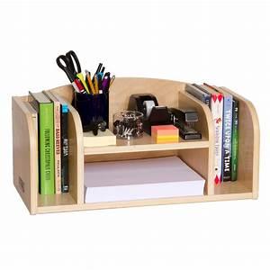 Guidecraft Low Desk Organizer - Office Desk Accessories at