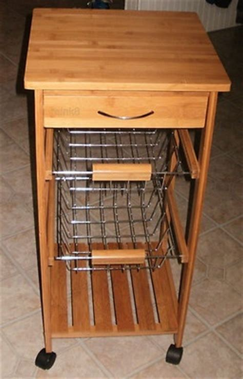 rolling vegetable cart   bins  drawer  shelf