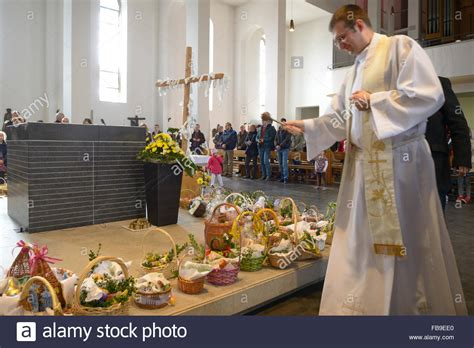 cuisine priest catholic priest blessing easter breakfast food in stock photo royalty free image