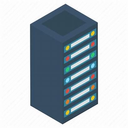 Data Icon Datacenter Storage Rack Hosting Icons