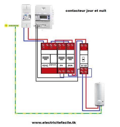 montage ballon eau chaude schema montage installation electrique contacteur jour et