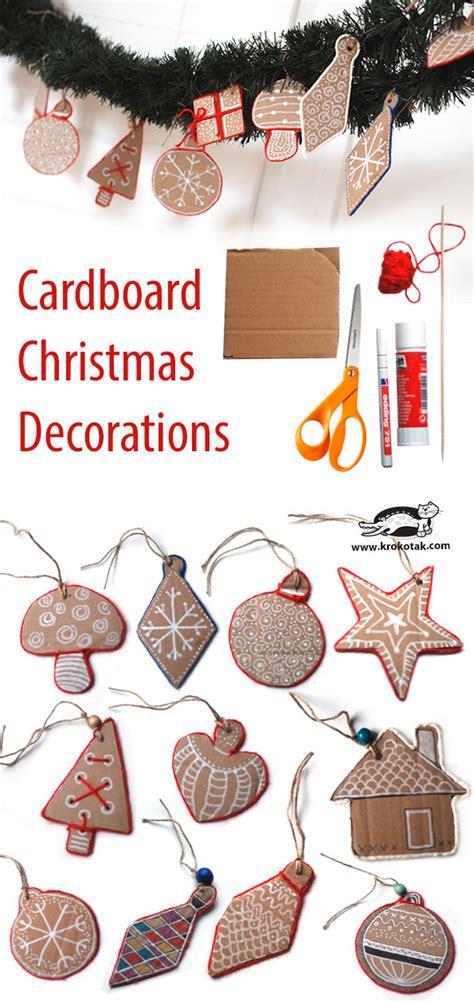 krokotak christmas cardboard decorations
