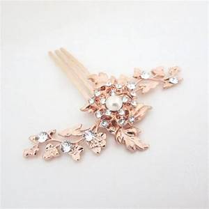 Rose Gold Bridal Hair Comb Small Wedding Hair Comb