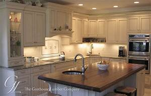 Large Walnut Wood Countertop Kitchen Island in New Jersey