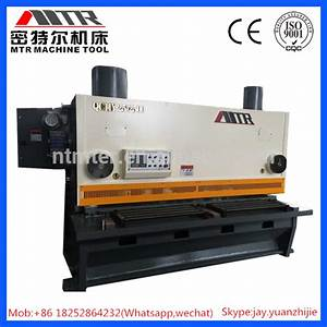 Qc11y Hydraulic Guillotine Cutter  Manual Guillotine Metal