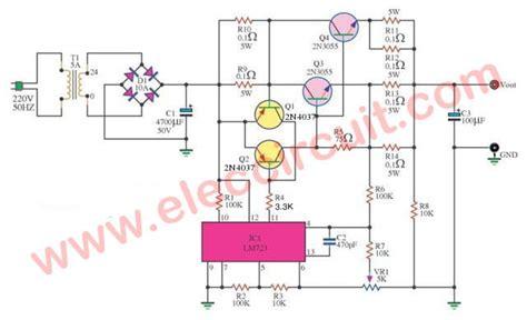 dc power supply   aadjustable regulator eleccircuit