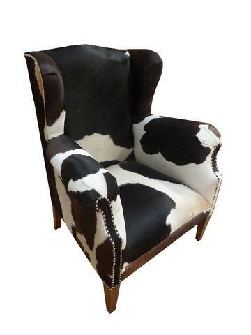 Cowhide Accent Chair by Cowhide Wingback Accent Chair Horner Interiors