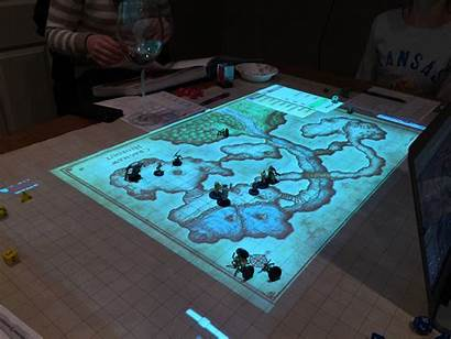Map Projection Dragons Dungeons Mapping Table Projector