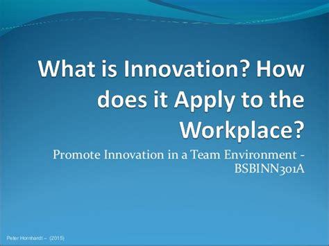 Innovation At Work (slides