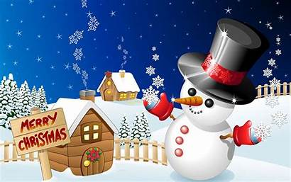 Merry Christmas Wallpapers Snowman Related