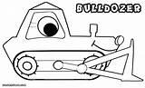 Bulldozer Coloring Colorings sketch template