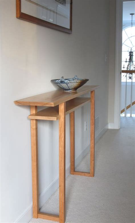 Kitchen Entryway Ideas - console table narrow table for hallways narrow sofa console entry table wood mid century