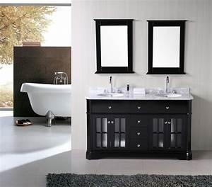 Idée Meuble Salle De Bain : meuble double vasque 50 id es am nagement salle de bain ~ Teatrodelosmanantiales.com Idées de Décoration