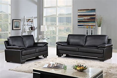 Modern Faux Leather Sofa And Loveseat Living Room