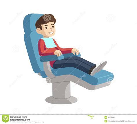 bureau de contr e enfant dans la chaise de dentiste illustration de vecteur