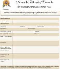 Church Membership Form Template
