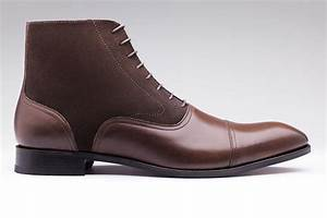 men39s handmade brown ankle high boot men dress leather With custom leather boots mens