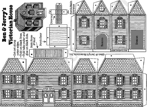 victorian gingerbread house template printable