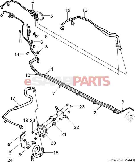 Saab Fuel Diagram by 12803639 Saab Fuel Pipe Saab Parts From Esaabparts