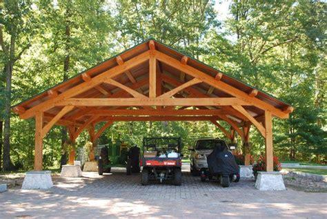 Timber Car Ports by Portfolio Dreaming Creek Timber Frame Homes Inc