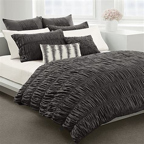 ruched duvet cover dkny willow grey duvet cover by dkny 100 cotton bed