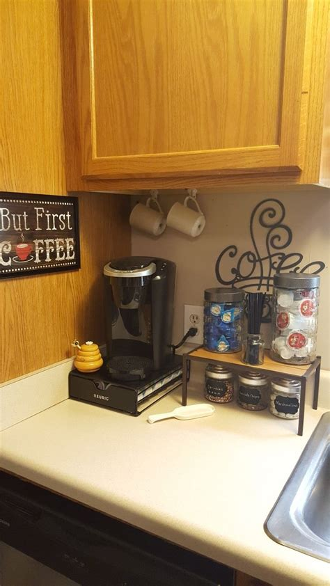 Not only will you be the first to hear about seasonal launches and trending. Coffee Bar sign ($6.00) is from Hobby Lobby. The 2 canisters on the shelf ($2.50 each), the ...