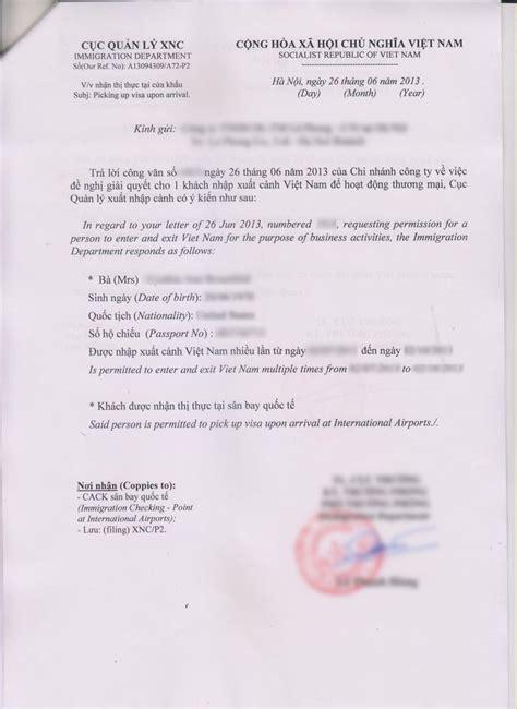 visa application form vietnam visa approval