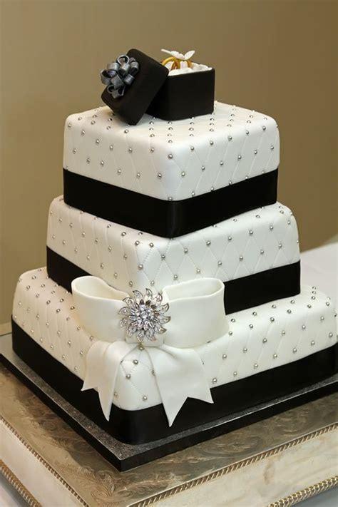black white silver weddings black white wedding cake