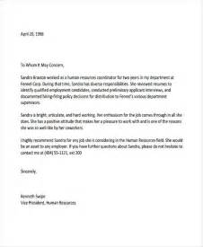 Letter Of Recommendation Pdf by 8 Employee Recommendation Letter Template 10 Free Word Pdf Format Free Premium