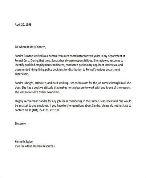 recommendation letter  employee bravebtr