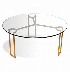 Triad modern geometric gold leaf round coffee table for Geometric round coffee table