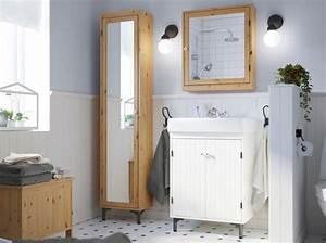 Armoire De Salle De Bain Ikea : salle de bains 50 armoires et colonnes pour tout ranger ~ Teatrodelosmanantiales.com Idées de Décoration