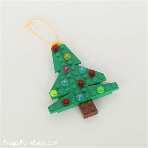five lego christmas ornaments to make with building