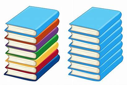 Books Thick Vector Stacks Stack Illustration Arrow