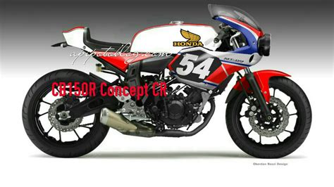 Photo Modifikasi Cb150r Ala Cbr250rr by Honda Cb150r Konsep Neo Cafe Racer Half Fairing Keren