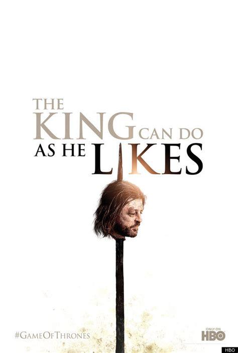 game  thrones season  poster lord starks head