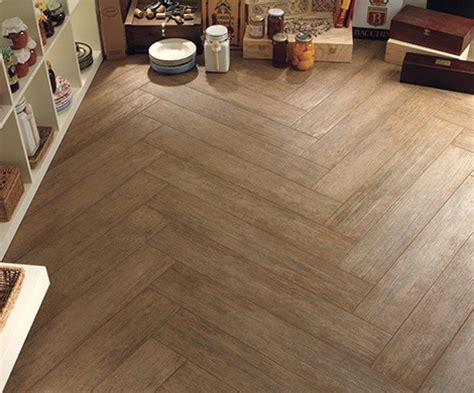 tile flooring that looks like wood Home Office Traditional