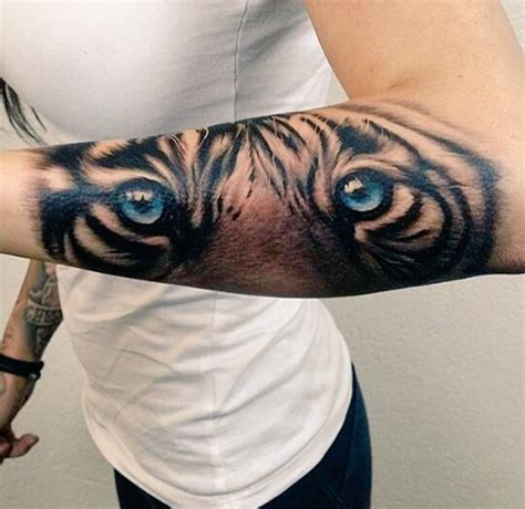 tigers eyes forearm tattoo tattoos  piercings