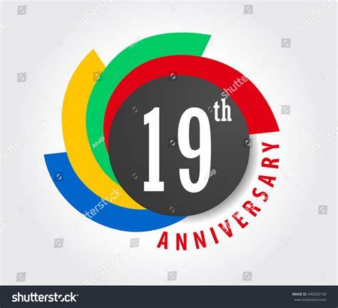 19th Anniversary Celebration Background 19 Years Stock