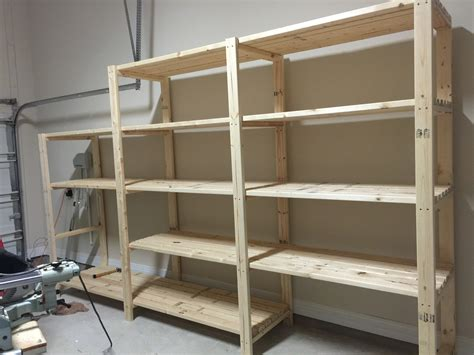 Garage Shelving Projects by White Garage Shelving Diy Projects