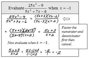 evaluating expressions worksheets openalgebra simplifying rational expressions