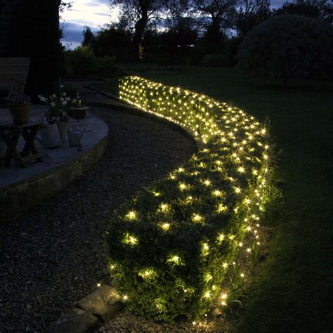net lights for trees 140 led warm white low voltage net light 2m x 2m