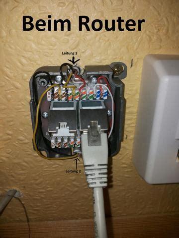 telefonleitunginternetleitung laesst kein signal durch