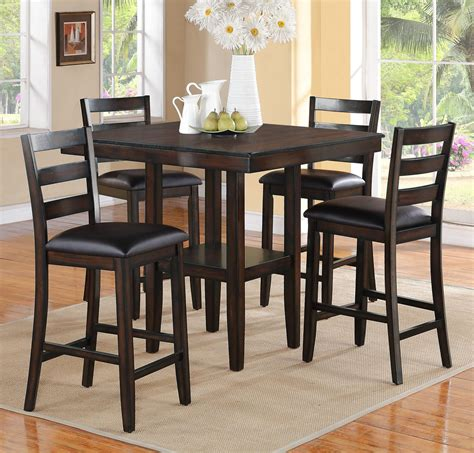 height table and chairs crown mark tahoe 2630set 5 piece counter height table and