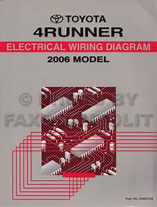 2006 Toyota 4runner Wiring Diagram Manual Original